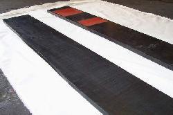 Placas para apoyo de bobinas acero Productos de goma